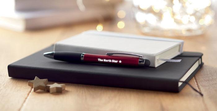 Oferta hasta agosto de bolígrafos con logo iluminado