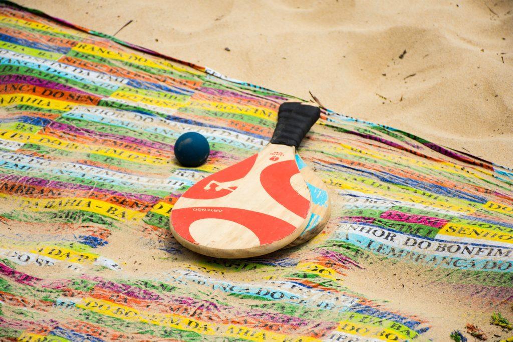 Merchandising con palas de playa