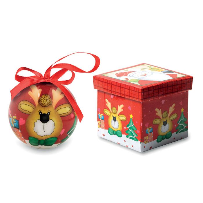 Caja para bola de navidad para mejorar la presentación