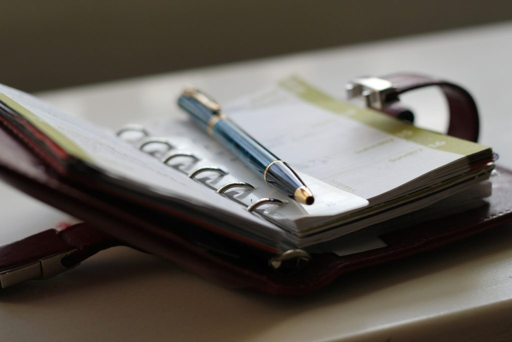 Consejos para utilizar una agenda de trabajo