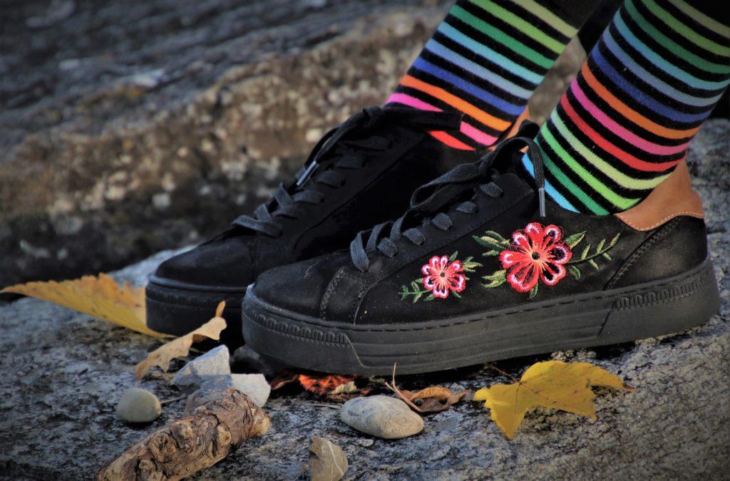 Bordado 3D en zapatillas