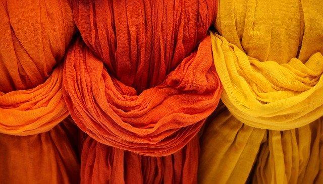 Algodón cortinas