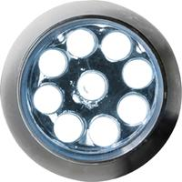 Linterna, 9 luces LED